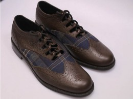 Brown Brogues with Brown Grain Calf Leather