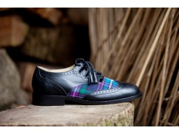 Image of side of tartan shoe