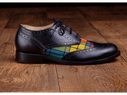 Black and tartan shoe
