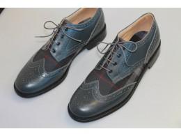 Grey Calf Leather with Grey Highlander Tartan